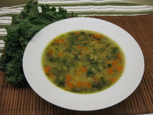 ginger kale soup